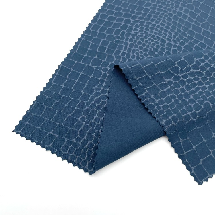 Embossed 76% Polyester+24% Lycra Fabric